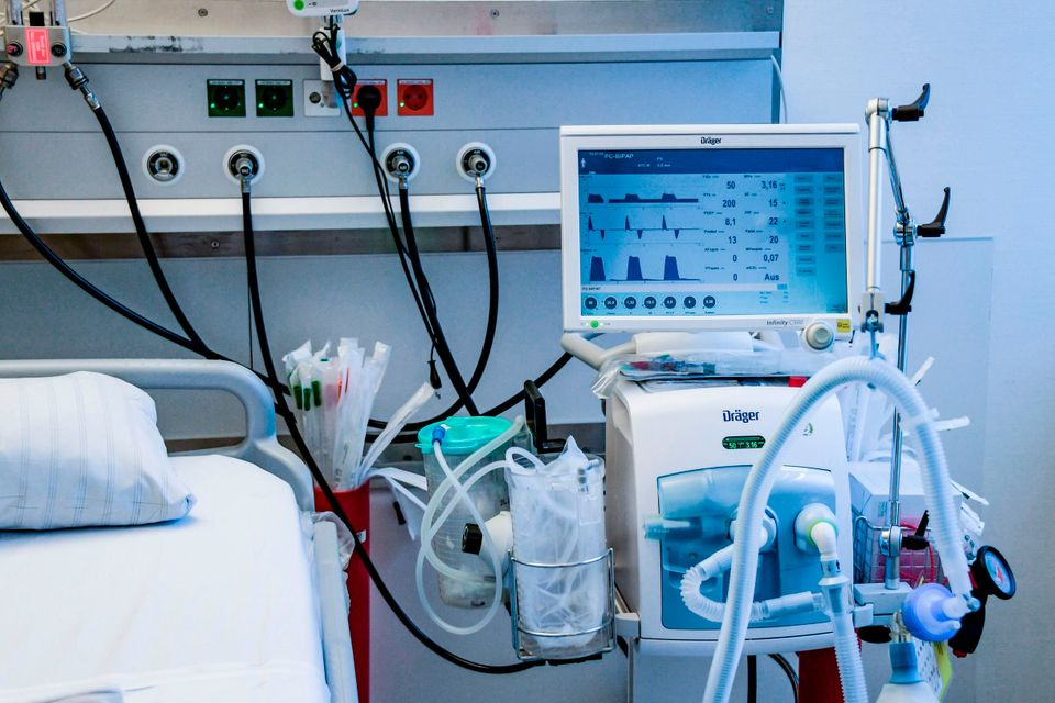 The government has ordered tens-of-thousands of ventilators to deal with the