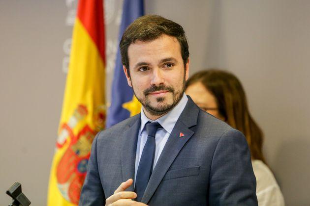 El Ministro de Consumo, Alberto Garzón, el 21 de febrero de 2020 en