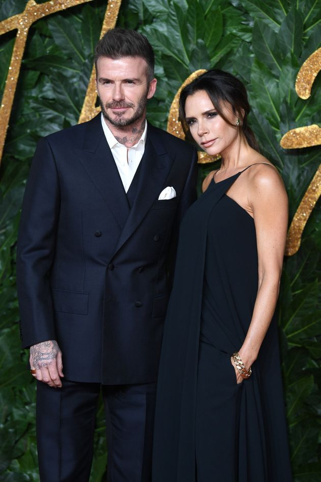 David Beckham and Victoria