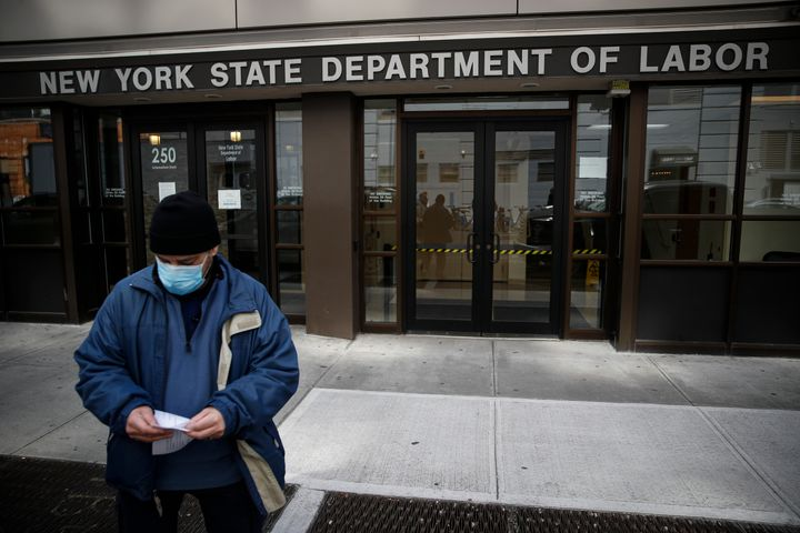 Applications for jobless benefits are surging in some states as coronavirus shakes the U.S. economy.
