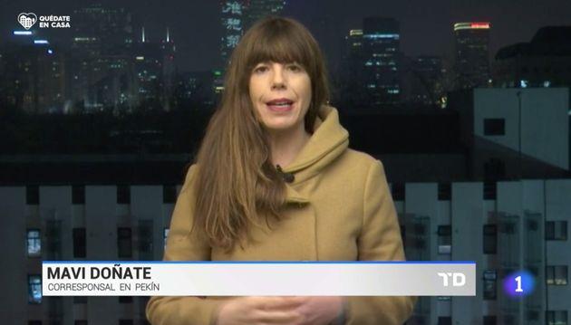 Mavi Doñate, corresponsal de TVE en