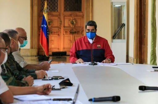El presidente, Nicolás Maduro, durante un anuncio televisado sobre el coronavirus el 22 de