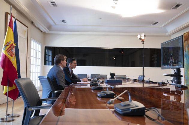 Reunión de Pedro Sánchez con el