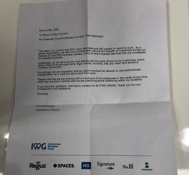 IWG letter