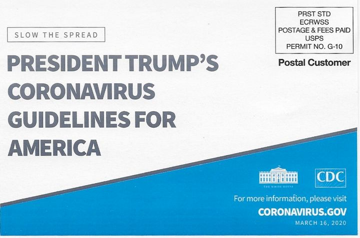 The CDC mailer sent to Americans prominently features President Donald Trump's name.