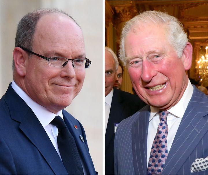 Prince Albert (L) and Prince Charles.