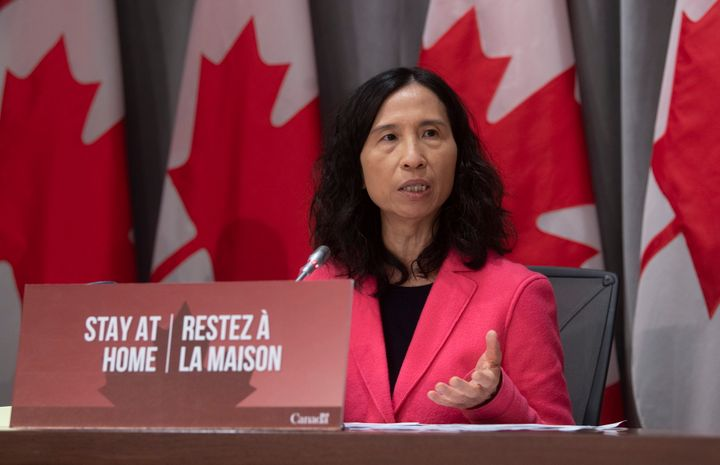 Chief Public Health Officer Theresa Tam speaks during a news conference in Ottawa on March 26, 2020.