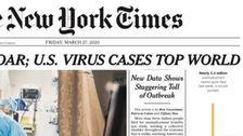 New York Times Δείχνει Πεδίο εφαρμογής Της Αμερικής Απώλειες θέσεων Εργασίας Στην Αξέχαστη πρώτη Σελίδα