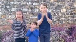 Le prince George, Charlotte et Louis applaudissent à leur tour les