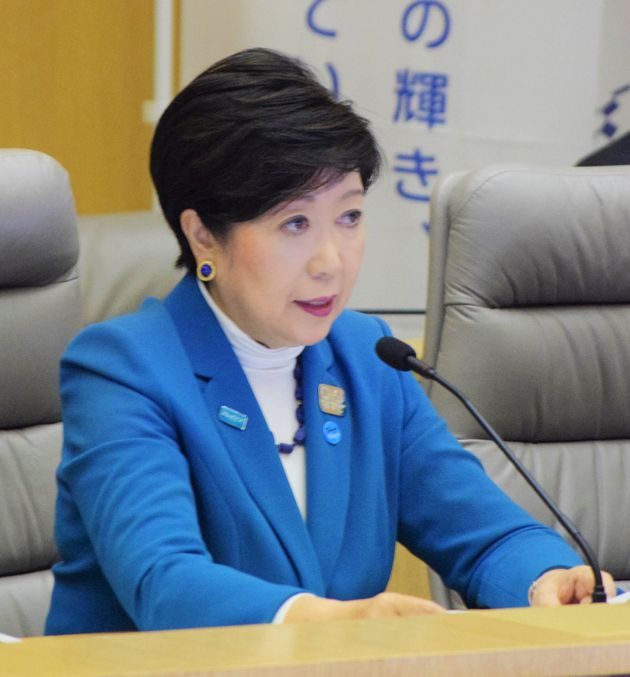 小池百合子都知事(東京都の新型コロナウイルス対策本部会議で、3月27日撮影)
