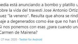 Javier Calvo responde a este mensaje sobre la serie de 'La