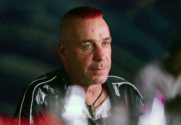 Till Lindemann, cantante de Rammstein, en un festival de Música en