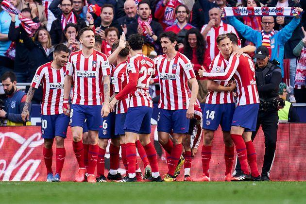 Jugadores del Atlético de