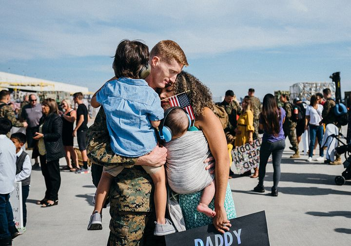 The Boyer family is back together again after Ryan returns from deployment in November 2019.
