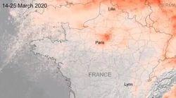Ces images satellites montrent la chute de la pollution à Paris avec le
