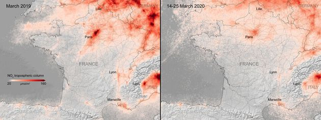 Coronavirus: la pollution à Paris a chuté, ces images satellites le