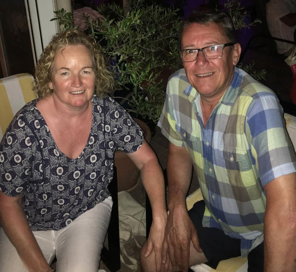 Graham Sabino enjoying retirement with his wife Cecily