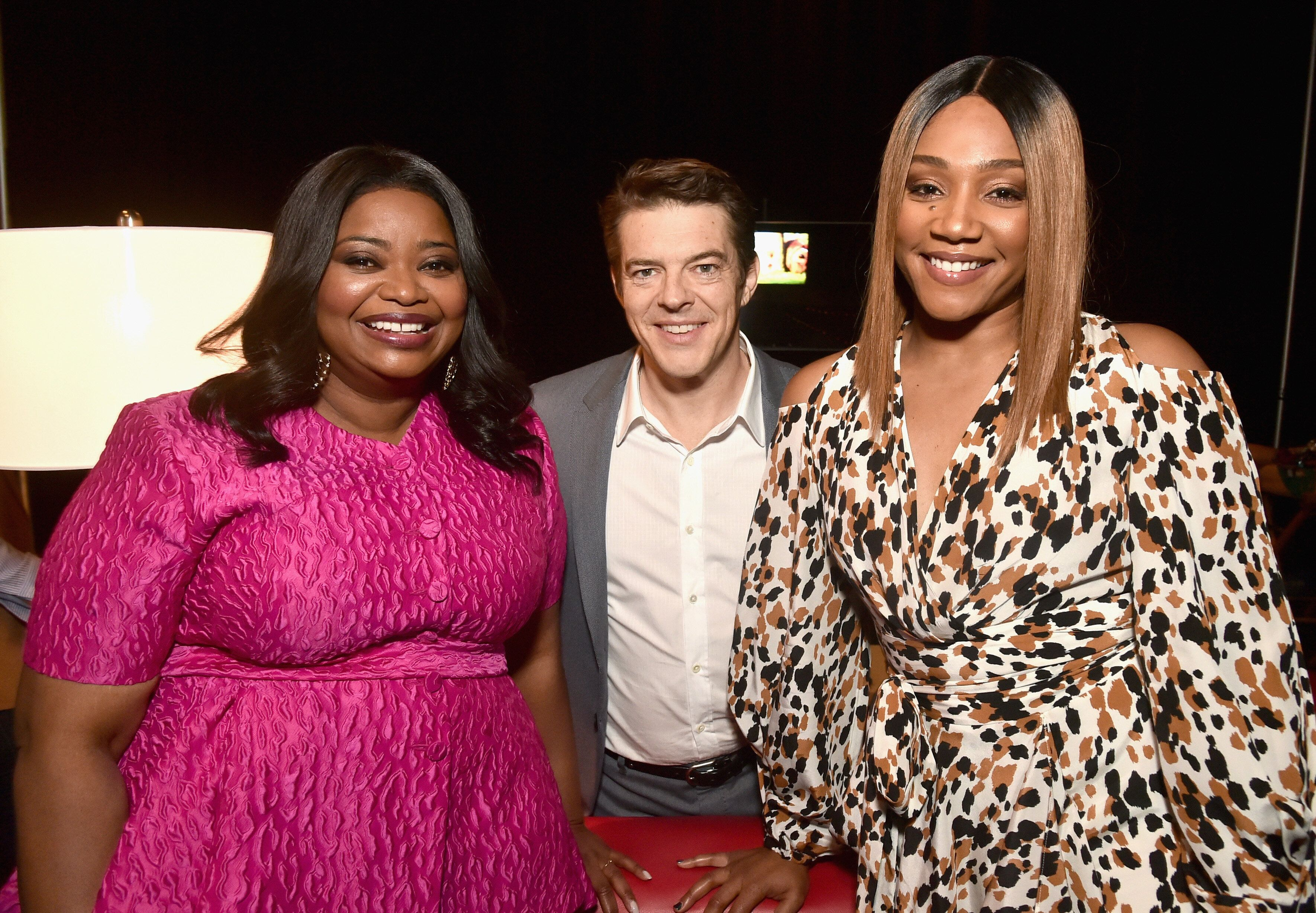 "Octavia Spencer, ""Us"" producer Jason Blum and Tiffany Haddish at CinemaCon 2019."