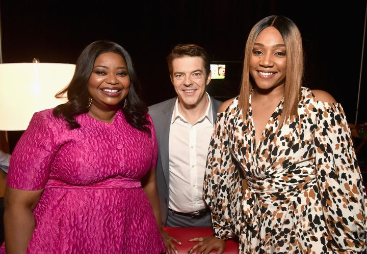 "Octavia Spencer, ""Us"" producer Jason Blum and Tiffany Haddish at CinemaCon 2019."