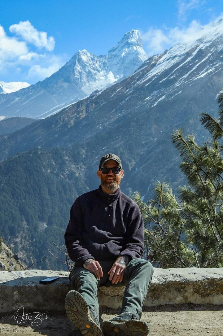 Walt Zink, a 44-year-old photographer and bartender from Boston, arrived in Nepal on March 10 to hike through the Everest reg
