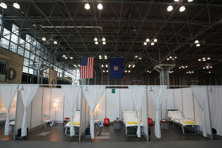 Officials in New York this week transformed the Jacob K. Javits Center in Manhattan into a temporary hospital as the num