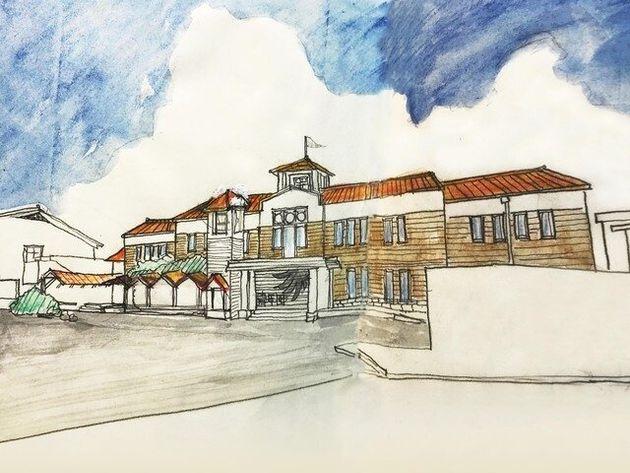 4月にオープン予定の劇団「青年団」の新たな本拠地、江原河畔劇場
