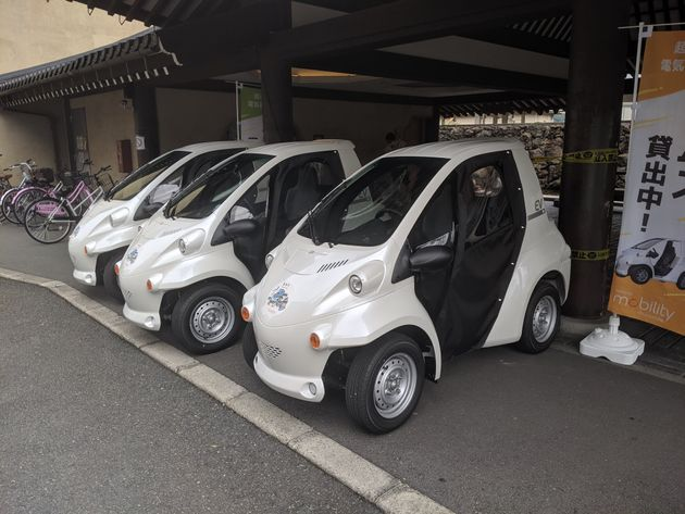 第ゼロ回のときに試験的に導入された、トヨタモビリティによる電気自動車の無料貸出