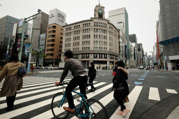 東京・銀座の様子。街に繰り出す人はまばらだったようだ。