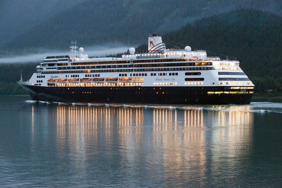 The MS Zaandam, pictured in Alaska during an earlier voyage.