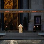 Pope Francis prays in empty St. Peter's Square in hauntingly moving
