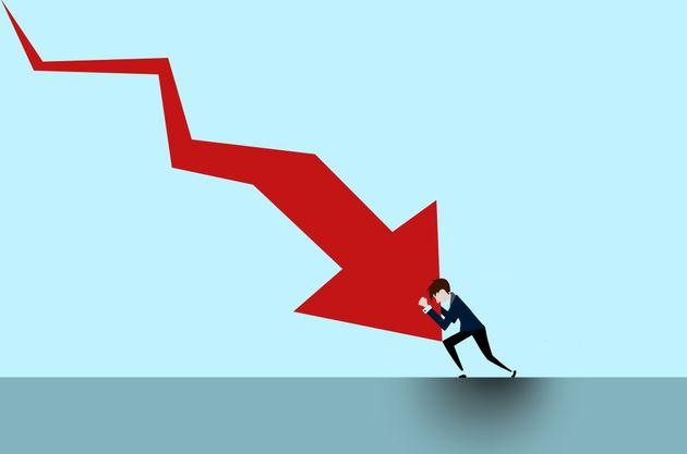 graphical description depicting struggle to stop an economic