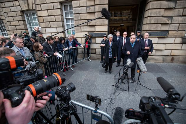Alex Salmond outside the High Court in Edinburgh after being cleared of all