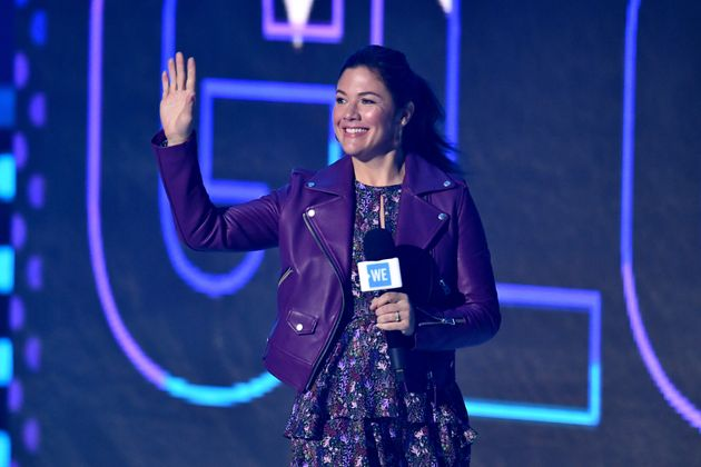 LONDON, ENGLAND - MARCH 04: Sophie Gregoire Trudeau on stage during WE Day UK 2020 at The SSE Arena,...