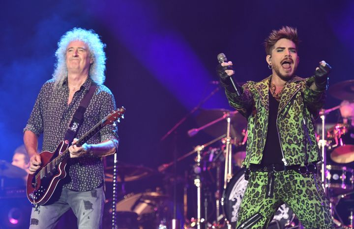 Queen and Adam Lambert perform at Fire Fight Australia, a concert for National Bushfire Relief in Sydney on Feb. 16, 2020.