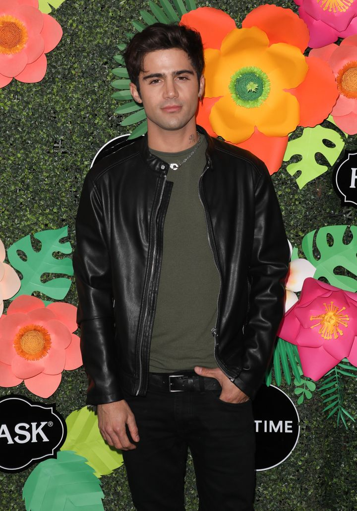 Max Ehrich pictured at Lifetime's Summer Luau in May 2019.