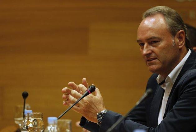 El expresidente valenciano Alberto Fabra, hospitalizado con