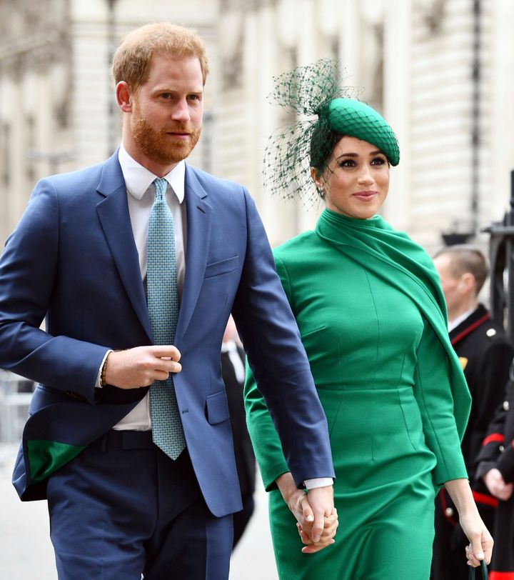 The Duke and Duchess of Sussex attend the Commonwealth Day Service on March 9 at Westminster Abbey.