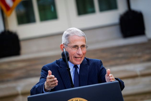 NIH National Institute of Allergy and Infectious Diseases Director Anthony Fauci speaks during a news...