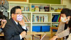 1分で作れる、かんたん布マスク 学童クラブで講習会