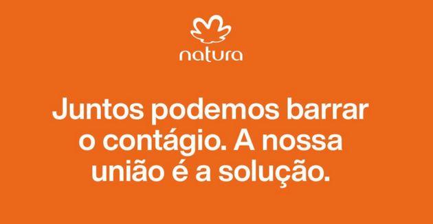 Natura é uma das empresas comprometidas com o apoio aos brasileiros na prevenção da