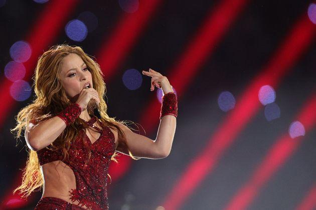 La cantante Shakira, durante la Super Bowl