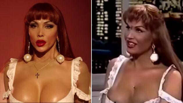 La actriz Daniela Santiago como Veneno en la serie de 2020 y Cristina Ortiz en 1996.