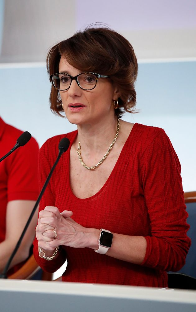 Italian politics Elena Bonetti during the press conference presenting the initiatives planned for the...