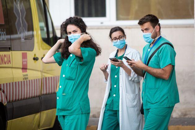 Sanitarios del Hospital 12 de Octubre de