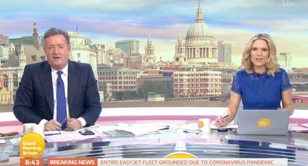 Piers Morgan and Charlotte Hawkins on Good Morning