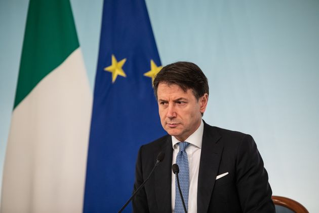 ROME, ITALY - 2020/03/05: Prime Minister Giuseppe Conte speaks during a press conference at Palazzo Chigi...
