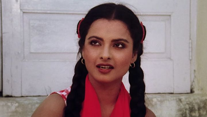 Rekha in a scene from the film 'Khubsoorat'.