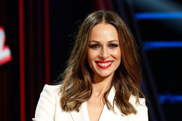 La presentadora Eva González, en la presentación de la nueva edición de 'La Voz' el 29 de enero de
