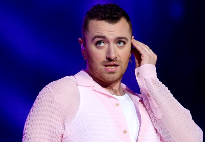 Sam Smith performs on stage during Capital's Jingle Bell Ball in London.