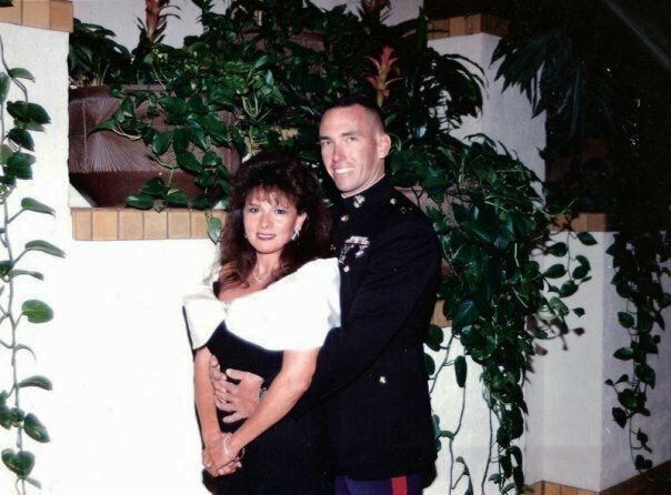 Vivianne Wersel with Lt. Col. Richard Wersel at a gala in Las Vegas in 1995.